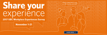 Share Your Experience in the Workplace Experiences Survey