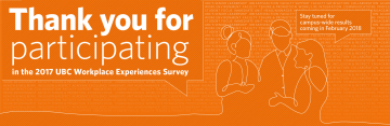 Thank You for Participating in the Workplace Experiences Survey
