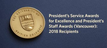 2018 President's Awards for Staff Recipients