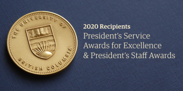 2020 President's Awards for Staff Recipients
